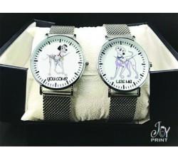 Coppia di orologi Personalizzati Carica dei 101