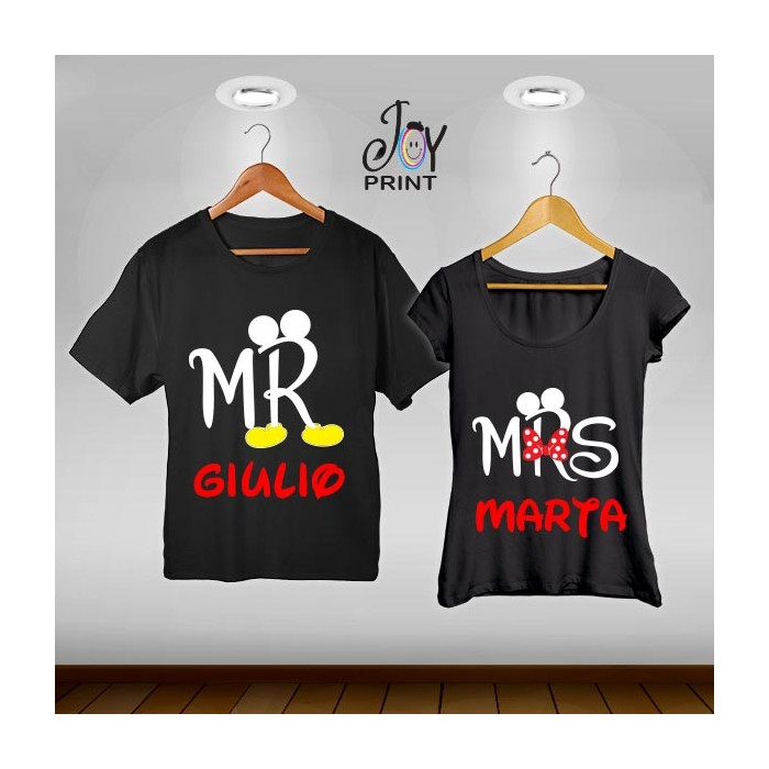 Coppia di t shirt Mr&Mrs Mouse