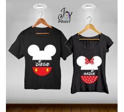 Coppia di t shirt Mr&Mrs Mouse Head