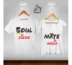 Coppia di t shirt Mr&Mrs Soul mate