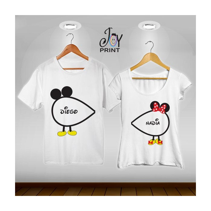 Coppia di t shirt Mr&Mrs Infinity Mouse