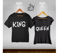 Coppia di t shirt King & queen