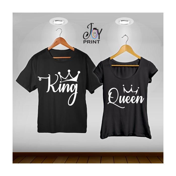 Coppia di t shirt King & queen reali