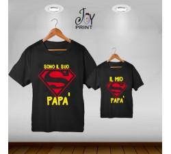 Coordinato festa del papà Siamo Super nero